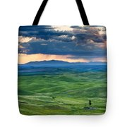 Palouse Storm Tote Bag by Mike  Dawson