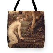 Pan And Psyche Tote Bag by Sir Edward Burne-Jones