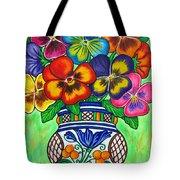 Pansy Parade Tote Bag by Lisa  Lorenz