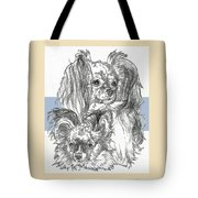 Papillon Father And Son Tote Bag by Barbara Keith