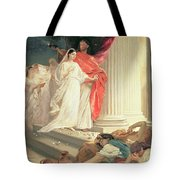 Parable Of The Wise And Foolish Virgins Tote Bag by Baron Ernest Friedrich von Liphart