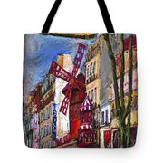 Paris Mulen Rouge Tote Bag by Yuriy  Shevchuk