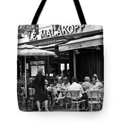 Paris Street Cafe - Le Malakoff Tote Bag by Nomad Art And  Design