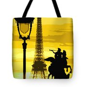 Paris Tour Eiffel Yellow Tote Bag by Yuriy  Shevchuk