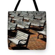 Park Benches Tote Bag by Perry Webster