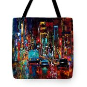 Party Of Lights Tote Bag by Debra Hurd