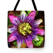 Passion Flower Tote Bag by Mariola Bitner