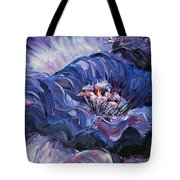 Passion In Blue Tote Bag by Nadine Rippelmeyer