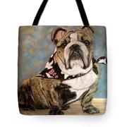 Pastel English Brindle Bull Dog Tote Bag by Patricia L Davidson