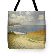 Path In The Wheat At Pourville Tote Bag by Claude Monet