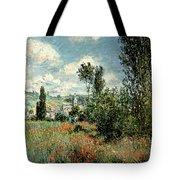 Path Through The Poppies Tote Bag by Claude Monet