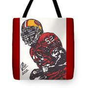 Patrick Willis Tote Bag by Jeremiah Colley