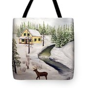 Peaceful Winter Day Tote Bag by Timothy Smith