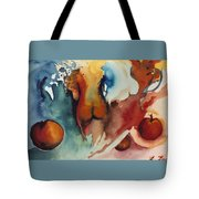 Peaches Tote Bag by Laura Joan Levine