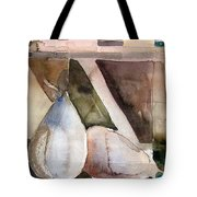 Pear Study In Watercolor Tote Bag by Mindy Newman