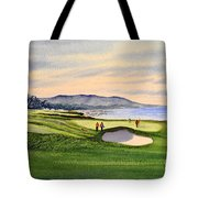 Pebble Beach Golf Course Tote Bag by Bill Holkham
