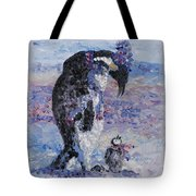Penguin Love Tote Bag by Nadine Rippelmeyer
