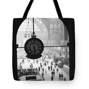 Penn Station Clock Tote Bag by Van D Bucher and Photo Researchers