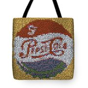 Pepsi Bottle Cap Mosaic Tote Bag by Paul Van Scott