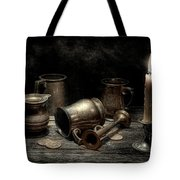 Pewter Still Life I Tote Bag by Tom Mc Nemar