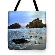 Pfeiffer Beach Evening - Big Sur Tote Bag by Charlene Mitchell