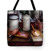 Pharmacist - Equipment For Making Pills  Tote Bag by Mike Savad