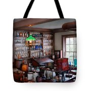 Pharmacist - Pharmacist From The 1880's  Tote Bag by Mike Savad
