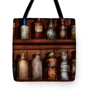 Pharmacy - Caution Don't Mix Together Tote Bag by Mike Savad
