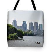 Philadelphia Along The Schuylkill River Tote Bag by Bill Cannon