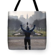 Philadelphia Champion - Rocky Tote Bag by Bill Cannon