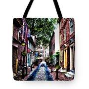 Philadelphia's Elfreth's Alley Tote Bag by Bill Cannon