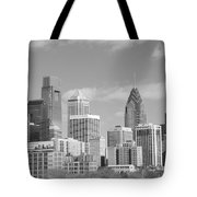 Philly Skyscrapers Black And White Tote Bag by Jennifer Lyon