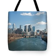 Philly Winter Tote Bag by Jennifer Ancker