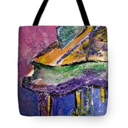 Piano Purple - Cropped Tote Bag by Anita Burgermeister
