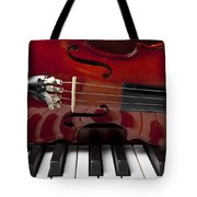 Piano Reflections Tote Bag by Garry Gay