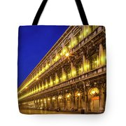 Piazza San Marco By Night Tote Bag by Inge Johnsson