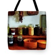 Pickles Beans and Jellies Tote Bag by Susan Savad