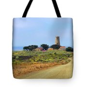 Piedras Blancas Historic Light Station - Outstanding Natural Area Central California Tote Bag by Christine Till