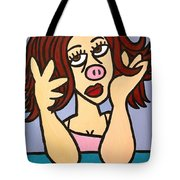 Pig Tote Bag by Thomas Valentine