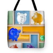 Piggy Banks Tote Bag by Arline Wagner