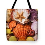 Pile Of Seashells Tote Bag by Garry Gay