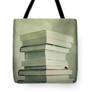 Piled Reading Matter Tote Bag by Priska Wettstein