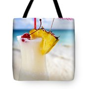 Pina Colada Cocktail On The Beach Tote Bag by Elena Elisseeva