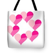 Pink Candy Hearts Tote Bag by Michael Skinner