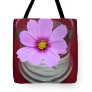 Pink Flower Tote Bag by Frank Tschakert