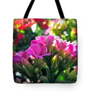 Pink In The Winter Tote Bag by Gwyn Newcombe