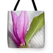 Pink Magnolia Flower Tote Bag by Frank Tschakert
