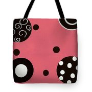 Pink Swirly Curly Tote Bag by Katie Slaby