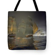 Pirate Attack Tote Bag by Carol and Mike Werner