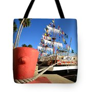 Pirates In Harbor Tote Bag by David Lee Thompson